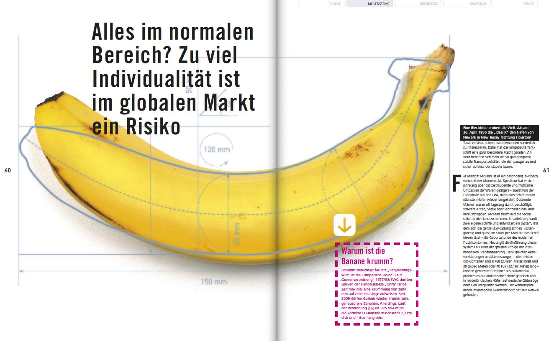 Artikel mit Text und Bild einer Banane
